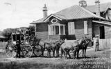 Picture relating to Charleville - titled 'Mail coach leaving Charleville Post Office, ca. 1909'