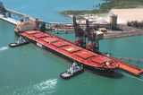 Picture relating to South Trees Island - titled 'Bauxite carrier at South Trees wharf Gladstone Qld'