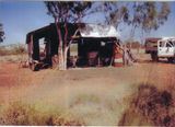 Picture relating to Opalton - titled 'Living Quarters at Bruno's Opal Mining Camp-Opalton'