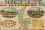 Picture relating to Coorparoo - titled 'Estate map of the Wecker Estate, Coorparoo, Queensland,'
