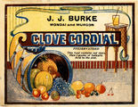 Picture relating to Wondai - titled 'J. J. Burke's Clove Cordial label'