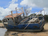 Picture relating to Seisia - titled 'Old boat at Loyalty Beach'