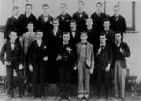 Picture relating to Nudgee - titled 'Young men from the Civil Service Class at Nudgee College, Brisbane, 1898'