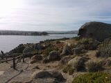 Picture relating to Granite Island - titled 'Victor Harbor and the causeway from Granite Island'