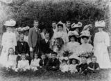 Picture relating to Mackay - titled 'Williams-Mills wedding party, Mackay, 1908'