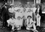 Picture relating to Boonah - titled 'Cricket club at Boonah, Queensland, 1901'
