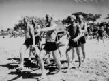 Picture relating to Redcliffe - titled 'Lifesavers from the Australian Infantry Forces give a demonstratlion at Redcliffe, August 1942'