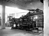 Picture relating to Kingston - titled 'Printing presses, , Government Printing Office, Kingston.'