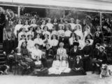 Picture relating to Oxley - titled 'Female students from Duporth School, Oxley, Brisbane, ca. 1913'