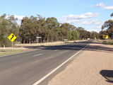 Picture relating to Curlewis - titled 'Kamilaroi Highway north of Curlewis'