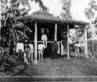 Picture relating to Queensland - titled 'South Sea Islander labourers' quarters on a Queensland sugar plantation, 1907'