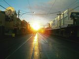 Picture relating to Brunswick East - titled 'Brunswick East-Lygon St, heading south early morning in autumn'