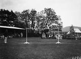 Picture relating to Duntroon - titled 'RMC [Royal Military College] Duntroon Sports Day, High jumper in action.'