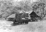 Picture relating to Mount Stanley - titled 'Mount Stanley Forestry-  hoop pine seed drying shed'