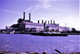 Picture relating to Newport - titled 'Newport power station and Williamstown vehicle ferry'