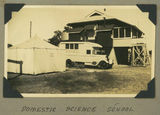 Picture relating to Cunnamulla - titled 'Mobile dental clinic parked behind Cunnamulla State School, 1939'