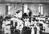 Picture relating to Charters Towers - titled 'Delegates of the North Queensland Christian Endeavour Convention, Charters Towers, 1906'