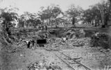 Picture relating to Mugga Quarry - titled 'Mugga Quarry showing light railway and skip'