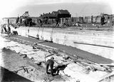 Picture relating to Kingston - titled 'Manuka swimming pool, under construction, Manuka Circle, Kingston.'