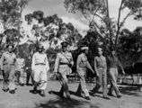 Picture relating to Rockhampton - titled 'Sir Leslie Orme Wilson, Governor of Queensland, on parade in Rockhampton, ca. 1942'