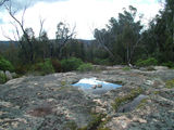 Picture relating to Booroomba Rocks - titled 'Flat granite slabs'