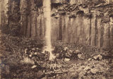 Picture of / about 'Killarney' Queensland - Men seated on rocks at the base of the Daggs Waterfall at Killarney, near Warwick, ca. 1887