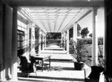Picture relating to Deakin - titled 'Pergola on west side of Prime Minister's Lodge, Adelaide Avenue, Deakin.'