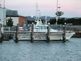 Picture relating to Eden - titled 'Water Police Vessel the 'Falcon' tied up at Eden Harbour'