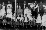 Picture relating to Tamborine Mountain - titled 'Governor of Queensland, Sir William McGregor, with a family at Tamborine, ca. 1910'