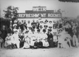 Picture relating to Charters Towers - titled 'Group portrait taken in front of the kiosk at the weir, Charters Towers, 1910'