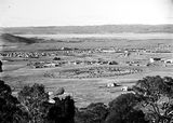 Picture relating to Duntroon - titled 'View from Red Hill across Manuka and Kingston to Duntroon. Collins Park in foreground.'