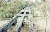 Picture relating to Neeworra - titled 'Abandoned rail bridge over Boomi River, Neeworra'