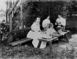 Picture relating to Toowong - titled 'Afternoon tea in a garden at Toowong, Brisbane, ca. 1900'
