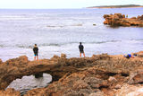 Picture relating to Cape Peron - titled 'Fishing the 'bridge', Cape Peron WA'