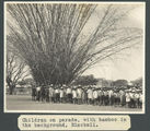 Picture of / about 'Blackall' Queensland - Schoolchildren on parade in Blackall, ca. 1928