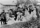 Picture relating to Stanthorpe - titled 'Wedding of Edward Ellevsen and Beatrice Ludlon, Stanthorpe, ca. 1906'