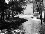 Picture relating to Cotter River - titled 'Cotter River below the dam wall'