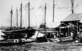 Picture relating to Thursday Island - titled 'Boat slips, Thursday Island, ca. 1908'