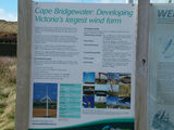 Picture of / about 'Cape Bridgewater' Victoria - Cape Bridgewater Wind Farm Information Sign