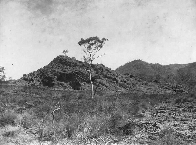 Picture of / about 'Mount Isa' Queensland - Outcrop of Black Star rock formation looking south west, Mount Isa district