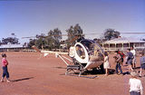 Picture relating to Zanthus - titled 'Helicopter lands at Zanthus 1965'
