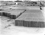 Picture relating to Kingston - titled 'Concrete pipes in Kingston storage yard'