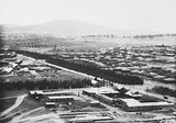 Picture relating to Kingston - titled 'Ariel view over Kingston factory area, looking towards Red Hill.'