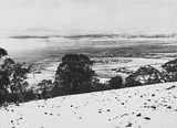 Picture of / about 'Manuka' the Australian Capital Territory - Snow fall - View from Red Hill over Collins Park, Manuka and Kingston to Duntroon .