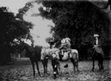 Picture relating to Queensland - titled 'Women and children riding horses, 1900-1910'
