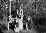 Picture relating to Brisbane - titled 'Five Latvian girls in the bush, Brisbane, 1951'