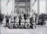 Picture relating to Yarralumla - titled 'Australian Forestry School staff and students, Banks St. Yarralumla.'