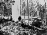Picture relating to Moogerah - titled 'Plane crash on Jurgensen's property at Moogerah in Febraury 1929'