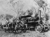 Picture relating to Brandon - titled 'Steam tractor and plough, Brandon'