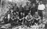 Picture relating to Mount Crosby - titled 'Cyril Watson and other workers in the Mount Crosby area, Queensland'